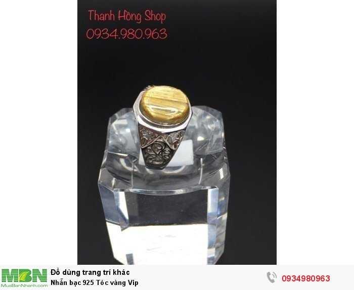 Nhẫn bạc 925 Tóc vàng Vip0