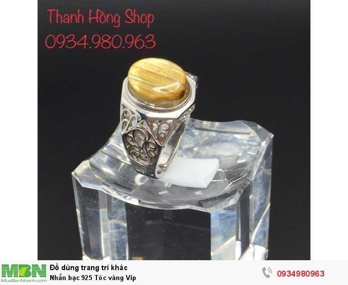 Nhẫn bạc 925 Tóc vàng Vip1