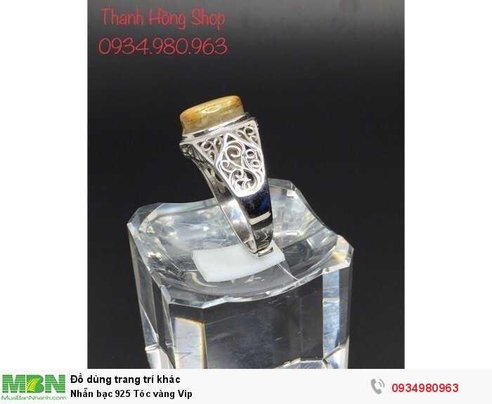 Nhẫn bạc 925 Tóc vàng Vip2