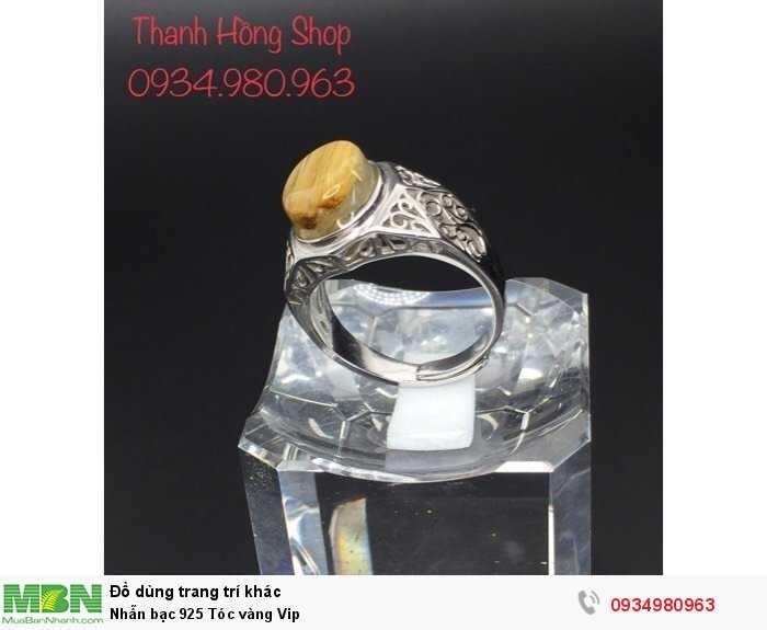 Nhẫn bạc 925 Tóc vàng Vip3