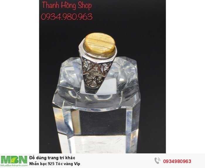 Nhẫn bạc 925 Tóc vàng Vip4