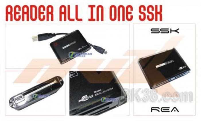 Đầu đọc thẻ đa năng SSK SCRM025 all in one