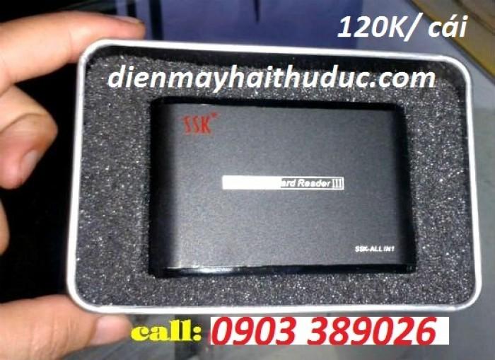 Đầu đọc thẻ SSK SCRM025 • Siêu mỏng • Truyền dữ liệu nhanh với chuẩn USB2.0
