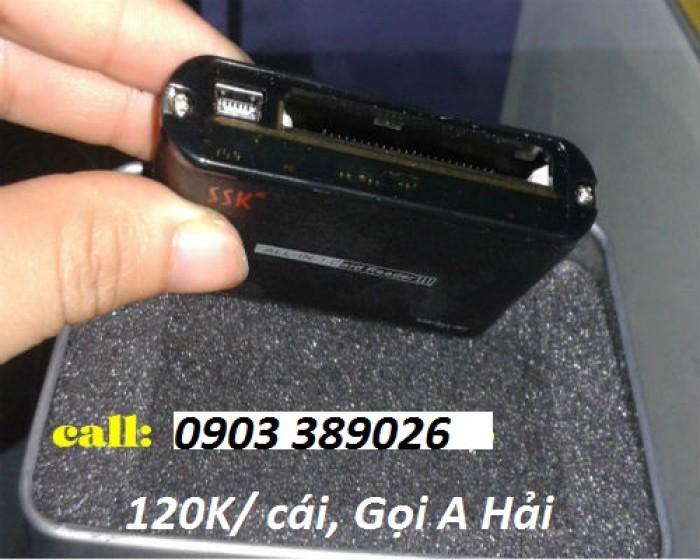 Đầu đọc thẻ SSK SCRM025 • Siêu mỏng • Không cần nguồn cung cấp • Cắm vào là chạy không phải cài đặt