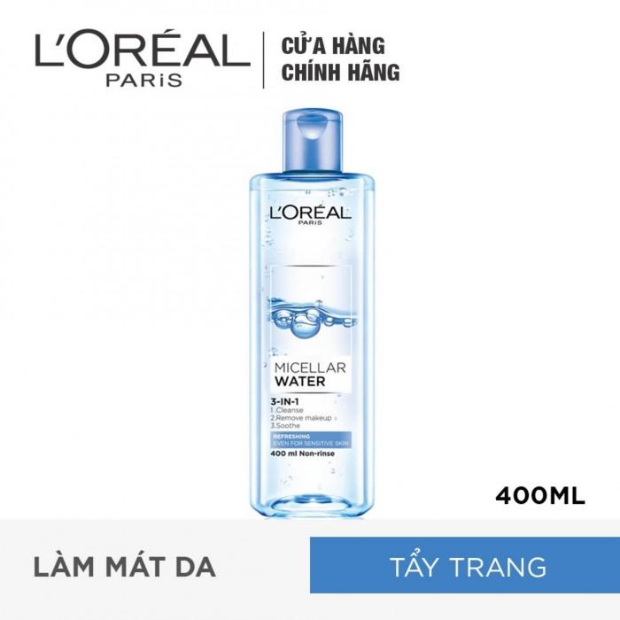 Nước Tẩy Trang Tươi Mát L'Oreal Paris Micellar Water 400ml0