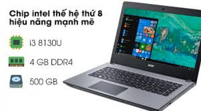 Laptop xách tay Acer Aspire Ẹ5 476 i3 813U/4GB/500GB/Win101