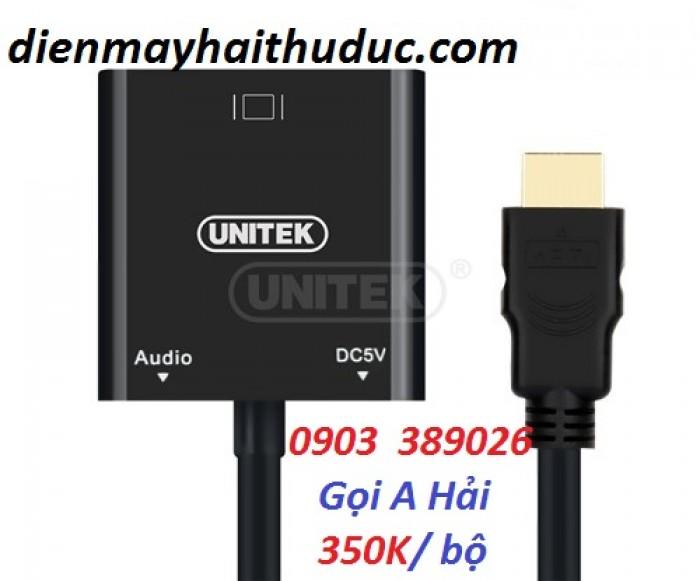 Cable HDMI ra VGA Unitek Y-6333 với chuẩn HDMI 1.4b, hỗ trợ độ phân giải lên đến 1080p.1