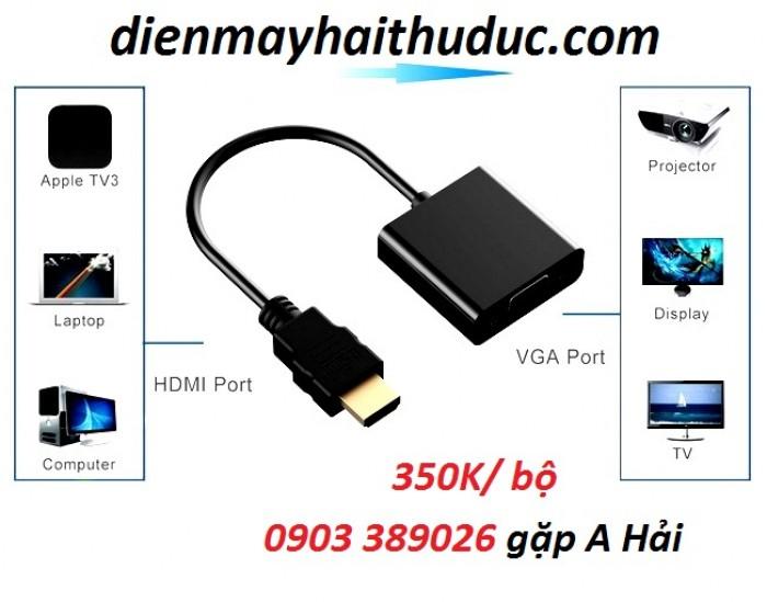Cable HDMI ra VGA Unitek Y-6333, hỗ trợ tất cả các hệ điều hành và các thiết bị có cổng ra hình HDMI5