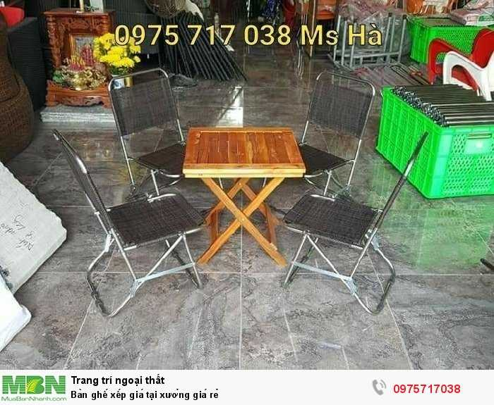 Bàn ghế xếp giá tại xưởng giá rẻ