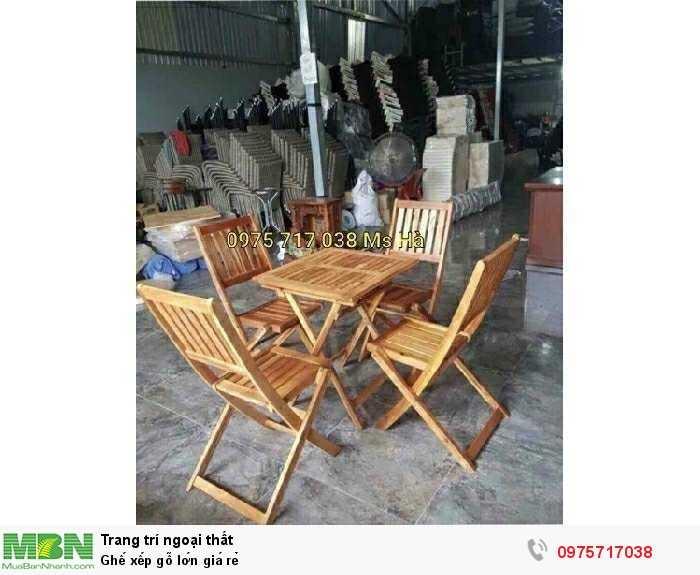 Ghế xếp gỗ lớn giá rẻ