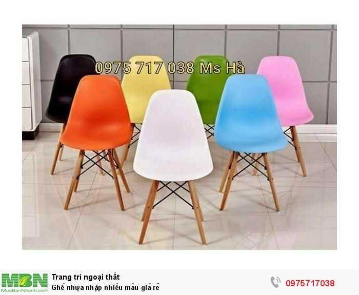 Ghế nhựa nhập nhiều màu giá rẻ