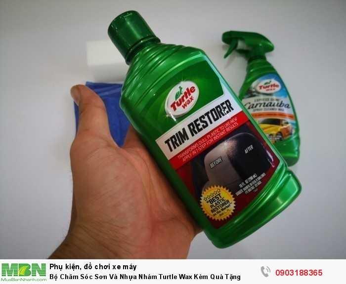 Bộ Chăm Sóc Sơn Và Nhựa Nhám Turtle Wax Kèm Quà Tặng