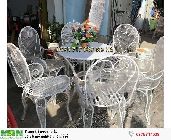 Bộ sắt mỹ nghệ 6 ghế  giá rẻ