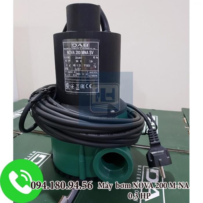 MÁY BƠM CHÌM  NƯỚC THẢI NHỰA NOVA 200 M-NA 0.3 HP không phao công suất 0.3HP0