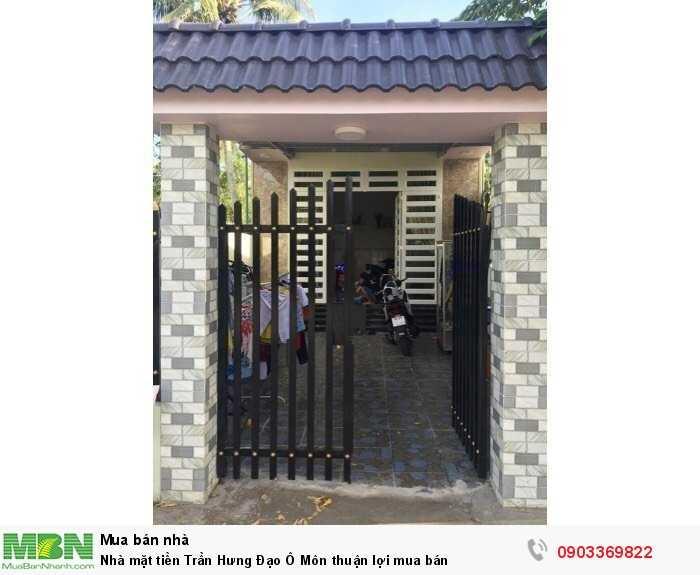 Nhà mặt tiền Trần Hưng Đạo Ô Môn thuận lợi mua bán