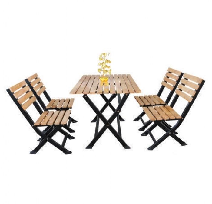 bàn ghế gổ cafe giá rẻ tại xưởng sản xuất HGH 1266