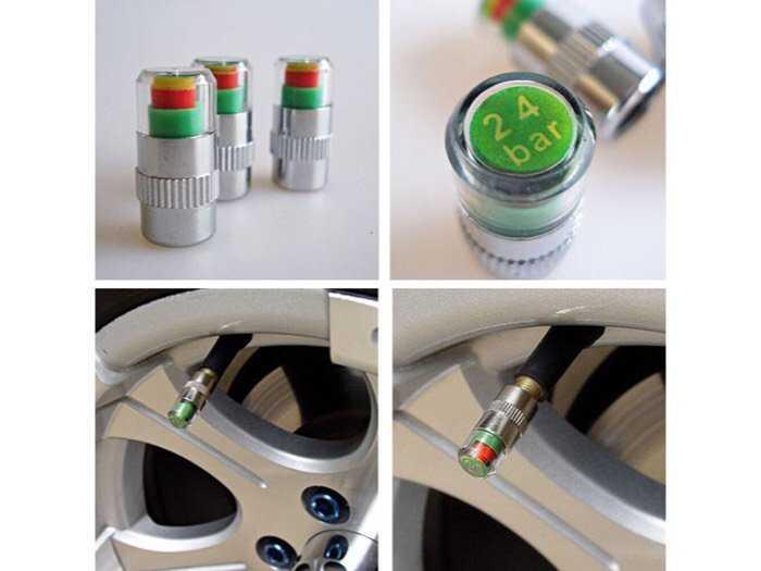 Bộ 4 Nút thông minh giúp cảnh báo áp suất lốp xe giúp đi xe an toàn