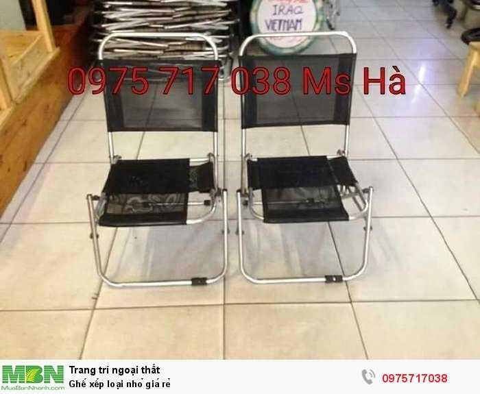 Ghế xếp loại nhỏ giá rẻ