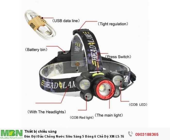 LED: XM-L5-T6 Đèn sáng có thể đến tối đa 15000 Lumen Điều Chỉnh Được 6 Chế Độ Sáng1
