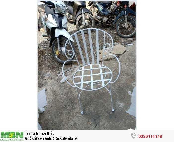 Ghế sắt sơn tĩnh điện cafe giá rẻ0
