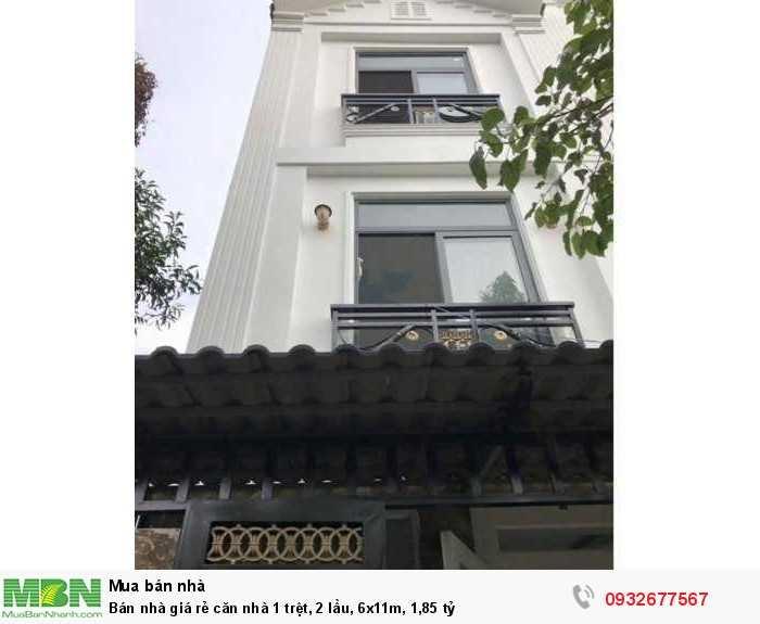Bán nhà giá rẻ căn nhà 1 trệt, 2 lầu,  6x11m, 1,85 tỷ