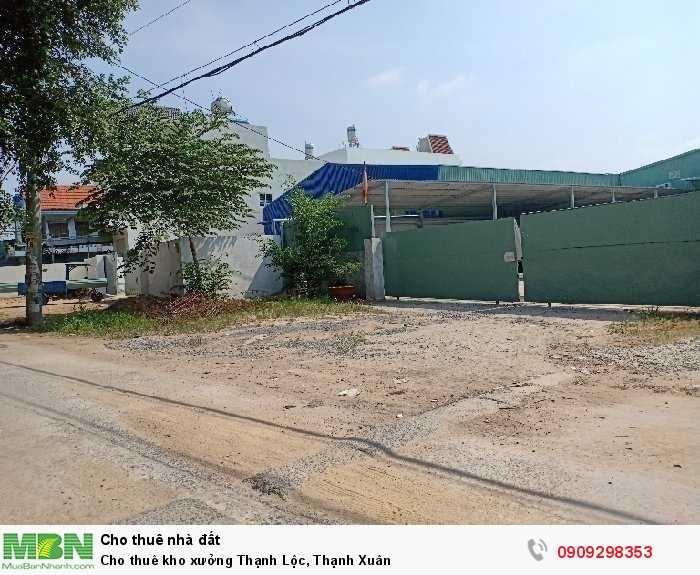 Cho thuê kho xưởng Thạnh Lộc, Thạnh Xuân