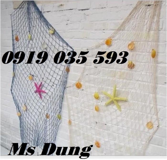 Lưới trang trí kèm vỏ sò lưới trang trí trần tường theo phong cách biển20