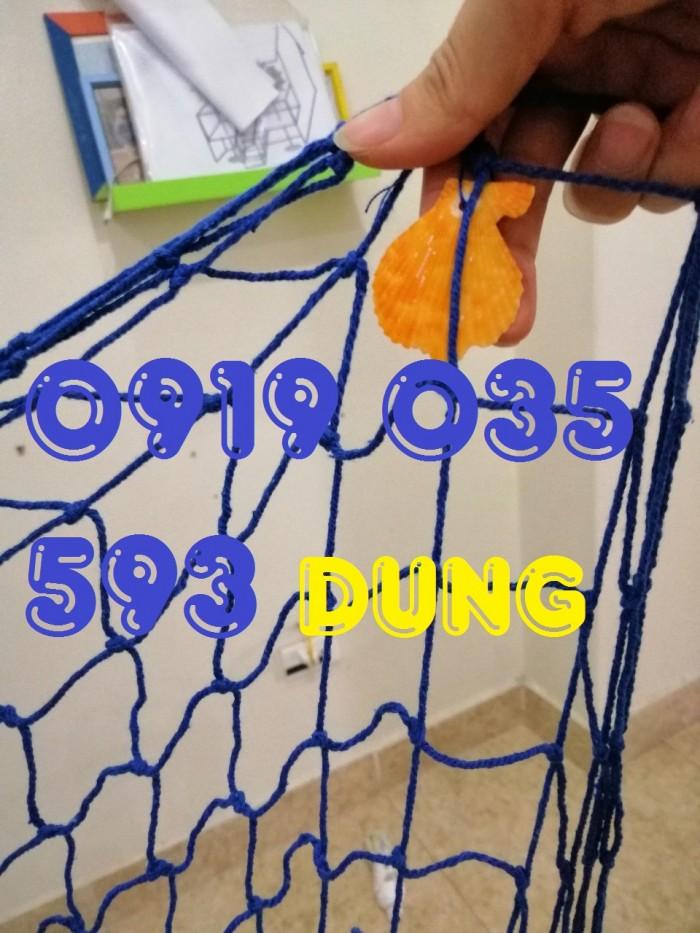 Lưới trang trí kèm vỏ sò lưới trang trí trần tường theo phong cách biển5