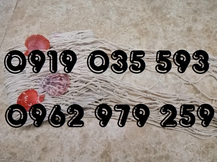 Lưới trang trí kèm vỏ sò lưới trang trí trần tường theo phong cách biển30