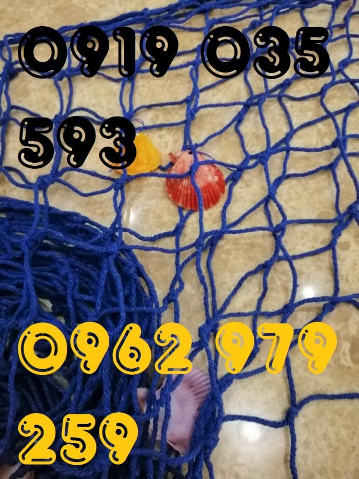 Lưới trang trí kèm vỏ sò lưới trang trí trần tường theo phong cách biển10