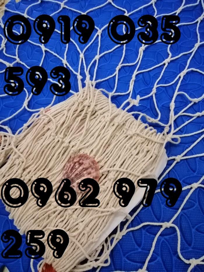 Lưới trang trí kèm vỏ sò lưới trang trí trần tường theo phong cách biển3