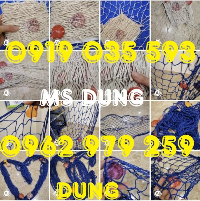 Lưới trang trí kèm vỏ sò lưới trang trí trần tường theo phong cách biển14