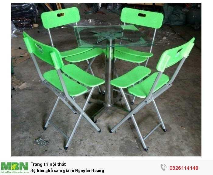 Bộ bàn ghế cafe giá rẻ Nguyễn Hoàng0