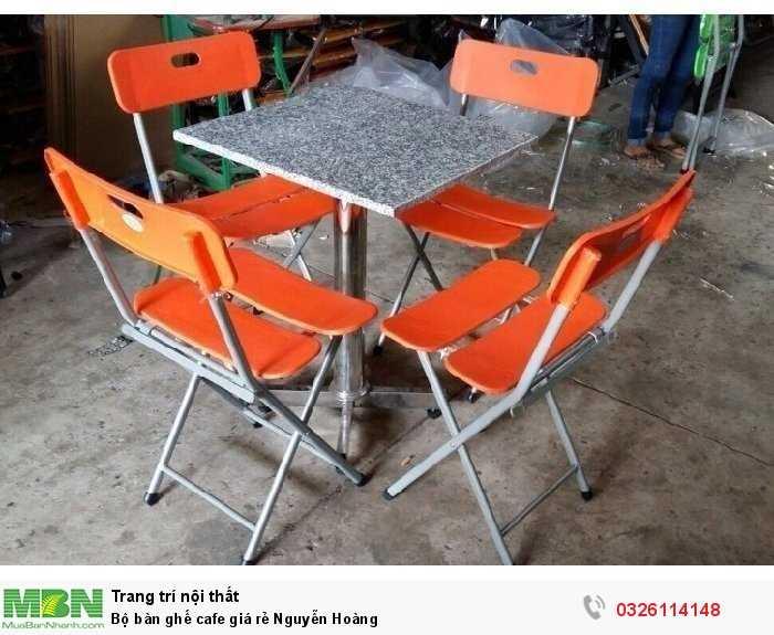 Bộ bàn ghế cafe giá rẻ Nguyễn Hoàng1