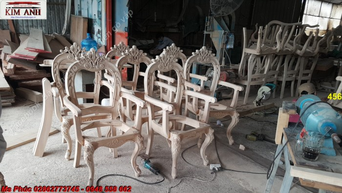bàn ghế gỗ tân cổ điển Đồng nai, Bình Dương