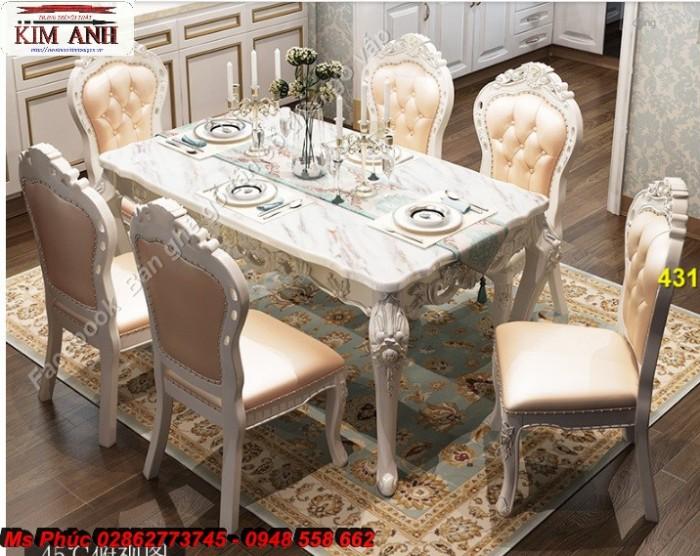 bàn ăn cổ điển màu trắng Cần Thơ