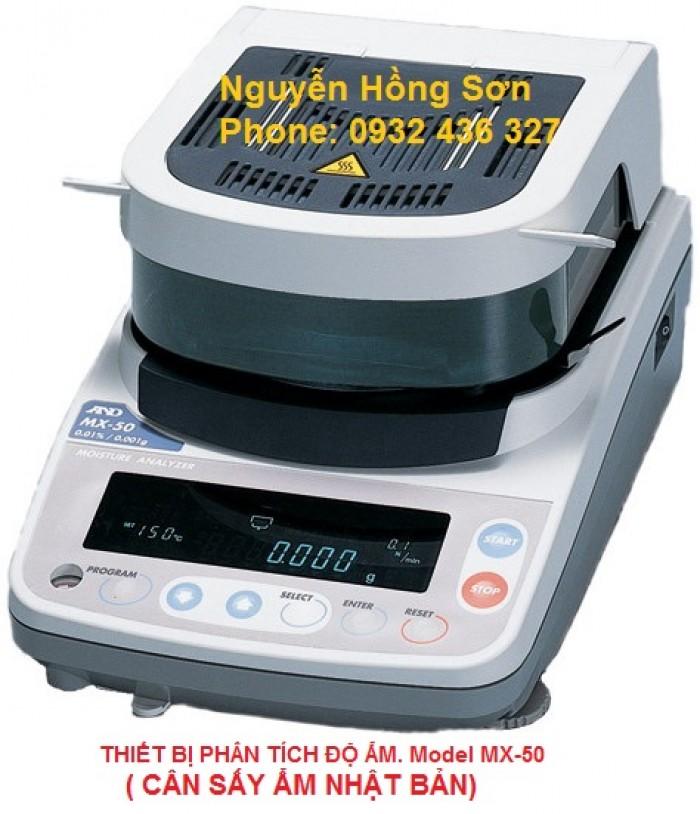 Thiết bị phân tích độ ẩm. Model mx-50( cân sấy ẩm)