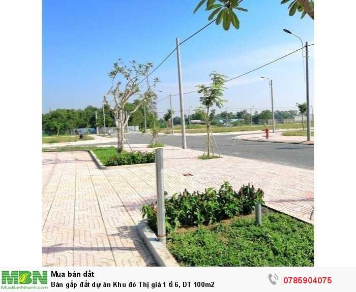 Bán gấp đất dự án Khu đô Thị giá 1 tỉ 6, DT 100m2