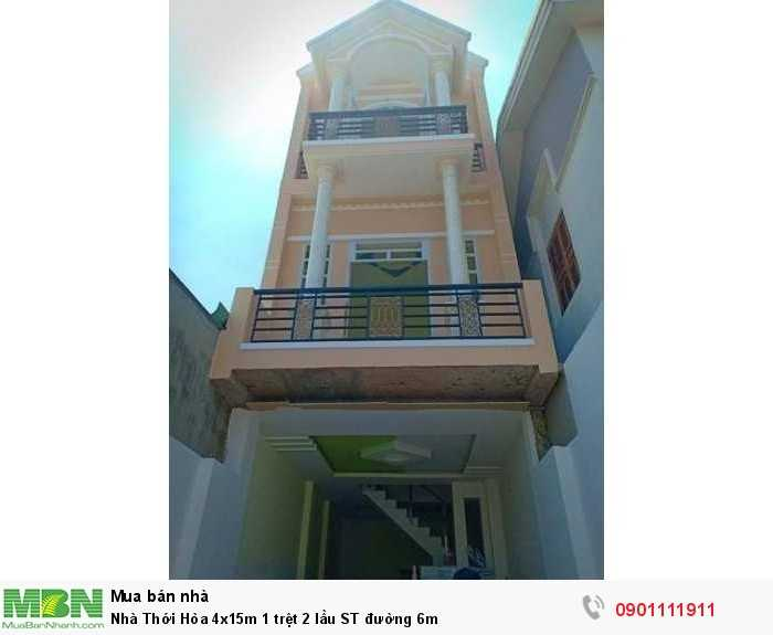 Nhà Thới Hòa 4x15m 1 trệt 2 lầu ST đường 6m