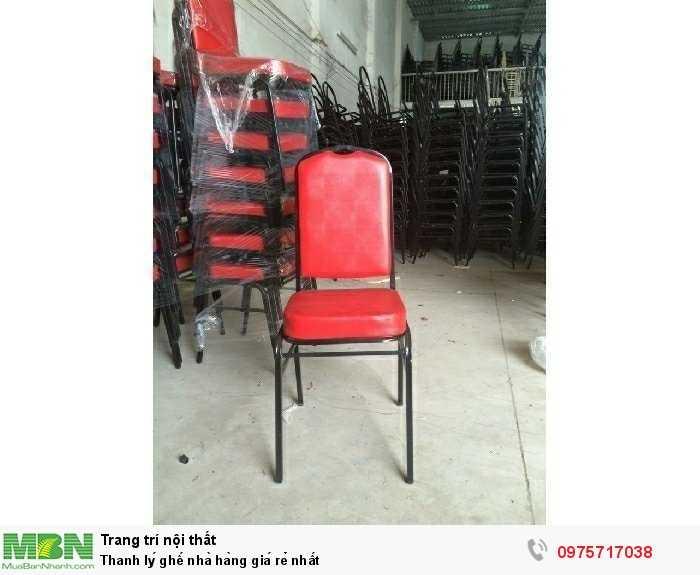 Thanh lý ghế nhà hàng giá rẻ nhất