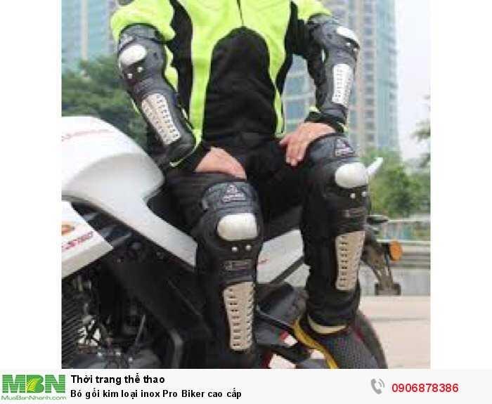 Bó gối kim loại inox Pro Biker cao cấp1