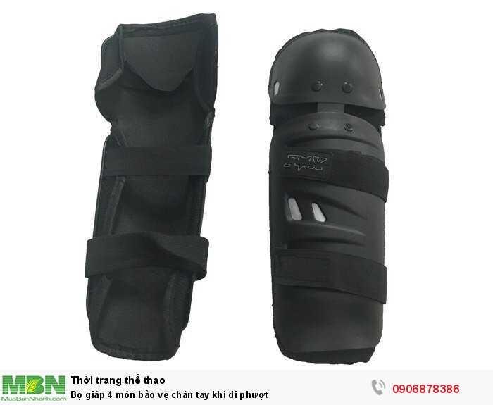 Bộ giáp 4 món bảo vệ chân tay khi đi phượt1
