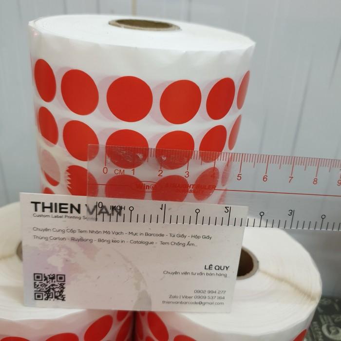 tem tròn dán lỗi màu đỏ 1.5cm 2cm7