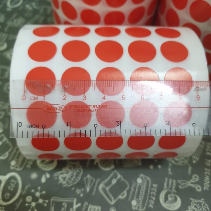 tem tròn dán lỗi màu đỏ 1.5cm 2cm6