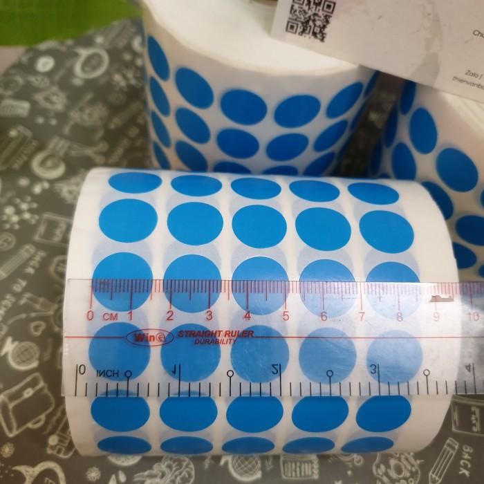 tem tròn dán lỗi màu xanh dương 1.5cm 2cm6