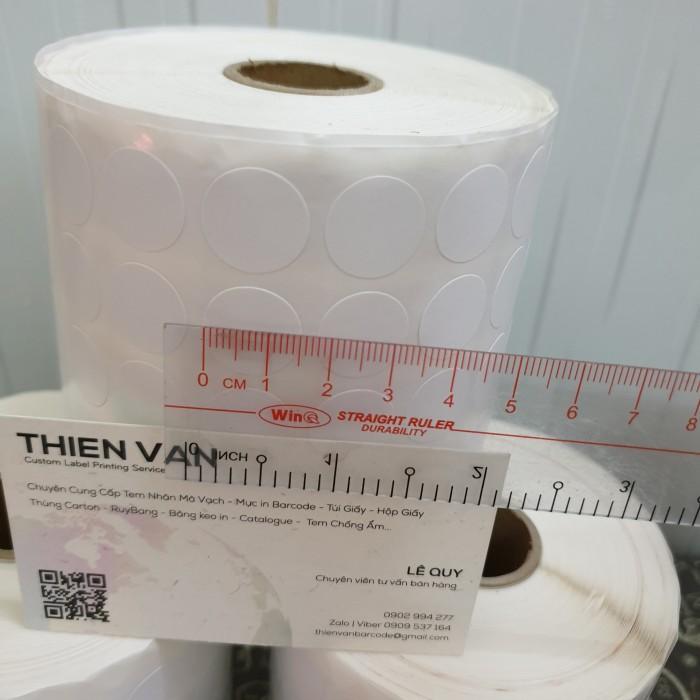 tem tròn dán lỗi màu trắng 1.5cm 2cm5