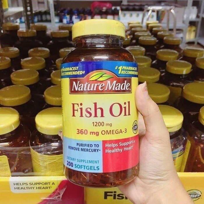 Viên Dầu Cá Fish oil Nature Made 200 viên của Mỹ