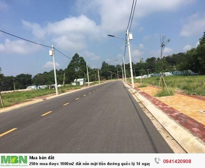 250tr mua được 1000m2 đất nền mặt tiền đường quốc lộ 14 ngay trung tâm hành chính huyện Chơn Thành ko