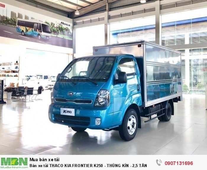 Bán xe tải THACO KIA FRONTIER K250 - THÙNG KÍN - 2,5 TẤN