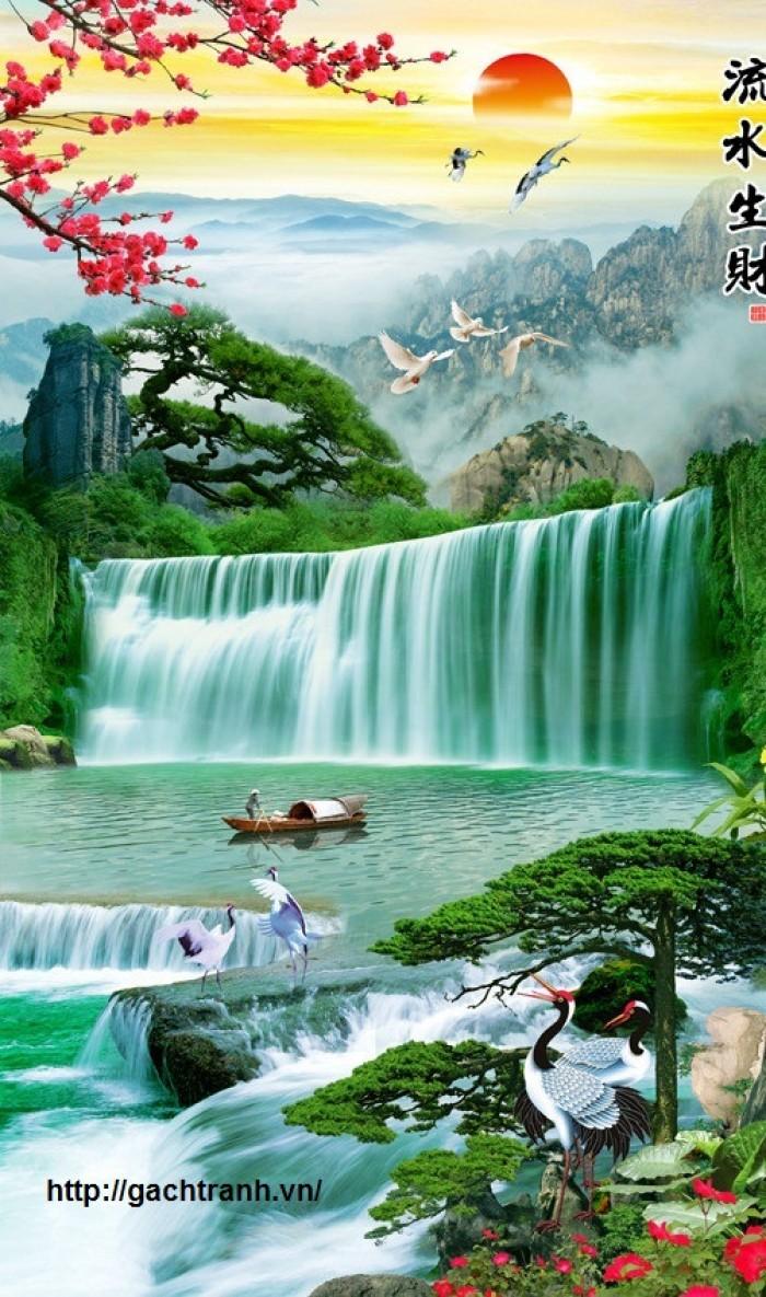 Gạch Tranh 3D Dáng Tường Mấu Tranh Phong Cảnh